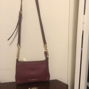 Maroon Michael Kors Crossbody Bag